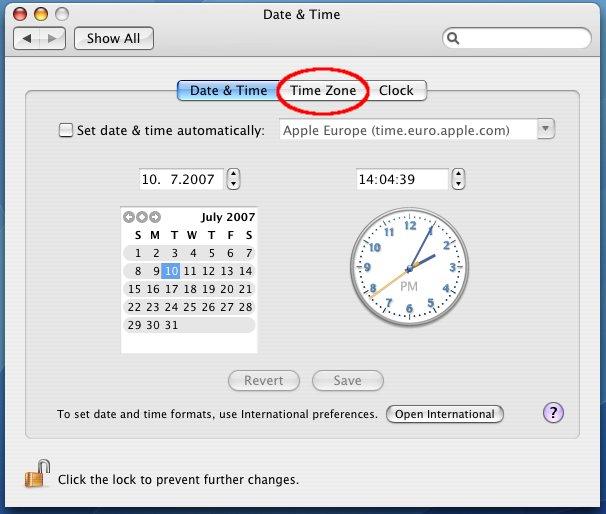 CZ NIC - Nastavení synchronizace času s internetovými servery